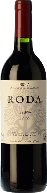 59,95 € Free Shipping | Red wine Bodegas Roda Reserva D.O.Ca. Rioja The Rioja Spain Tempranillo, Grenache, Graciano Magnum Bottle 1,5 L