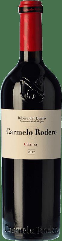 19,95 € 免费送货 | 红酒 Carmelo Rodero Crianza D.O. Ribera del Duero 卡斯蒂利亚莱昂 西班牙 Tempranillo, Cabernet Sauvignon 瓶子 75 cl