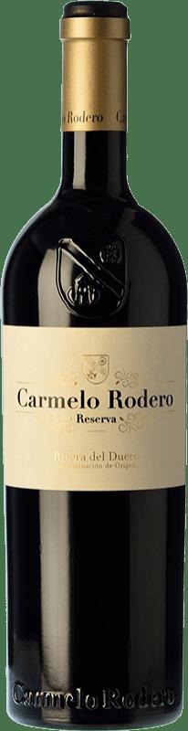 31,95 € 免费送货 | 红酒 Carmelo Rodero Reserva D.O. Ribera del Duero 卡斯蒂利亚莱昂 西班牙 Tempranillo, Cabernet Sauvignon 瓶子 75 cl