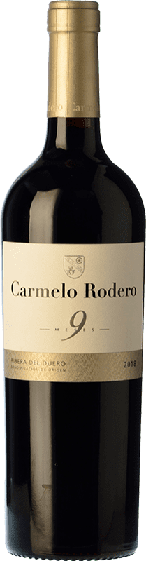11,95 € | Red wine Carmelo Rodero 9 Meses Joven D.O. Ribera del Duero Castilla y León Spain Tempranillo Bottle 75 cl