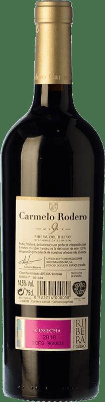 11,95 € Free Shipping   Red wine Carmelo Rodero 9 Meses Joven D.O. Ribera del Duero Castilla y León Spain Tempranillo Bottle 75 cl
