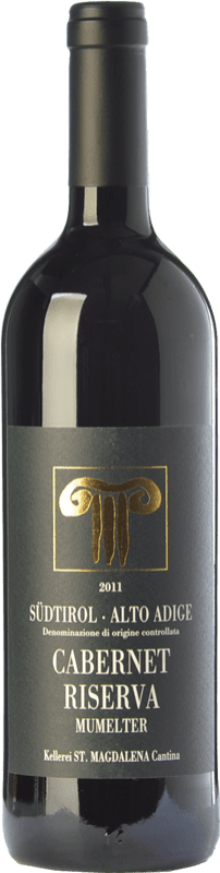 34,95 € | Red wine Bolzano Cabernet Riserva Mumelter Reserva D.O.C. Alto Adige Trentino-Alto Adige Italy Cabernet Sauvignon, Cabernet Franc Bottle 75 cl