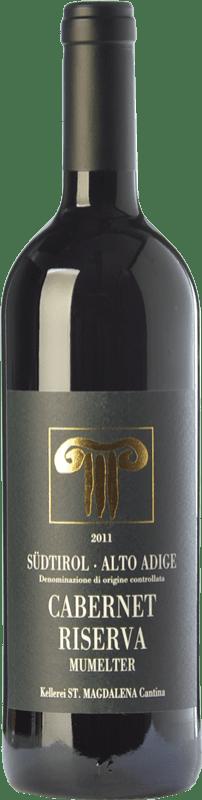 34,95 € Free Shipping | Red wine Bolzano Cabernet Riserva Mumelter Reserva D.O.C. Alto Adige Trentino-Alto Adige Italy Cabernet Sauvignon, Cabernet Franc Bottle 75 cl