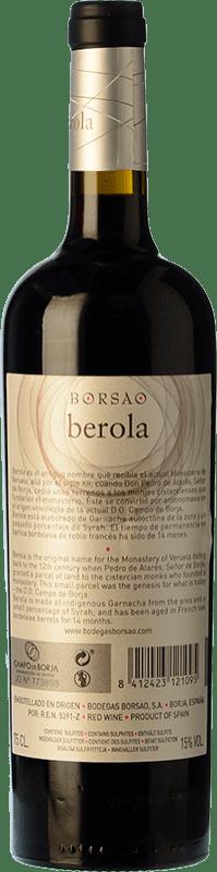 14,95 € Free Shipping | Red wine Borsao Berola Crianza D.O. Campo de Borja Aragon Spain Syrah, Grenache, Cabernet Sauvignon Bottle 75 cl