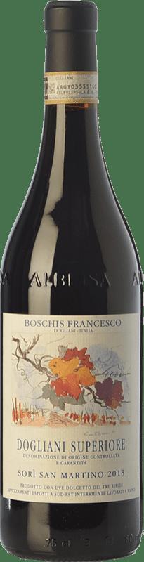 19,95 € Free Shipping | Red wine Boschis Sorì San Martino D.O.C.G. Dolcetto di Dogliani Superiore Piemonte Italy Dolcetto Bottle 75 cl