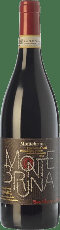 18,95 € 免费送货 | 红酒 Braida Montebruna D.O.C. Barbera d'Asti 皮埃蒙特 意大利 Barbera 瓶子 75 cl