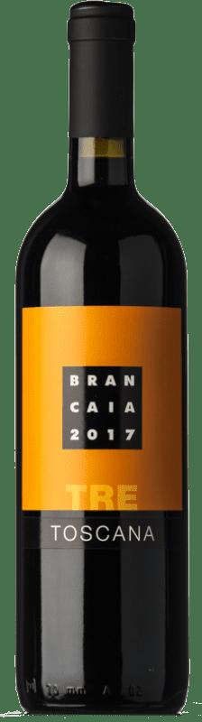 16,95 € Envío gratis | Vino tinto Brancaia Tre I.G.T. Toscana Toscana Italia Merlot, Cabernet Sauvignon, Sangiovese Botella 75 cl