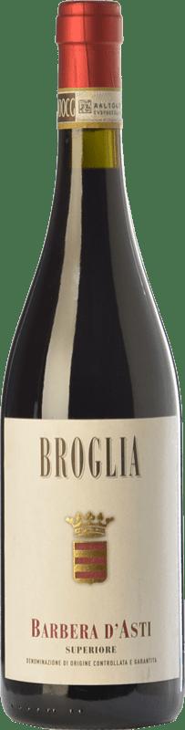 17,95 € | Red wine Broglia Superiore D.O.C. Barbera d'Asti Piemonte Italy Barbera Bottle 75 cl