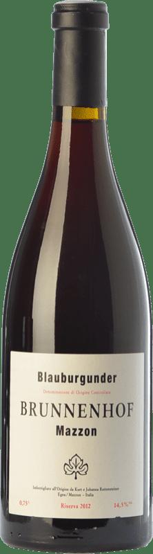 43,95 € Free Shipping | Red wine Brunnenhof Blauburgunder Riserva Reserva D.O.C. Alto Adige Trentino-Alto Adige Italy Pinot Black Bottle 75 cl