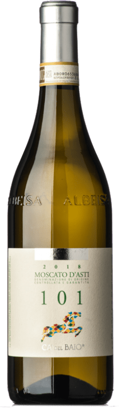 13,95 € Free Shipping | Sweet wine Cà del Baio Particella 101 D.O.C.G. Moscato d'Asti Piemonte Italy Muscat White Bottle 75 cl