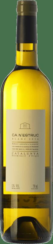 5,95 € 免费送货   白酒 Ca N'Estruc Joven D.O. Catalunya 加泰罗尼亚 西班牙 Macabeo, Xarel·lo, Chardonnay, Muscatel Small Grain 瓶子 75 cl