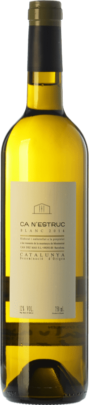 5,95 € Free Shipping | White wine Ca N'Estruc Joven D.O. Catalunya Catalonia Spain Macabeo, Xarel·lo, Chardonnay, Muscatel Small Grain Bottle 75 cl