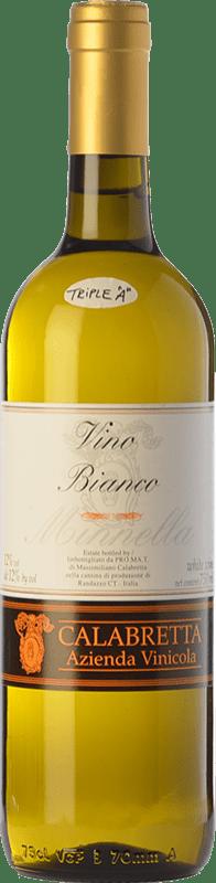 22,95 € Free Shipping | White wine Calabretta Minnella I.G.T. Terre Siciliane Sicily Italy Minella Bottle 75 cl