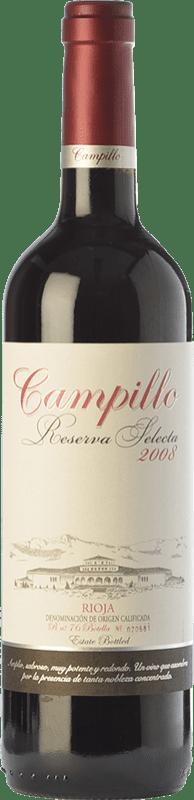 15,95 € 免费送货   红酒 Campillo Selecta Reserva D.O.Ca. Rioja 拉里奥哈 西班牙 Tempranillo 瓶子 75 cl