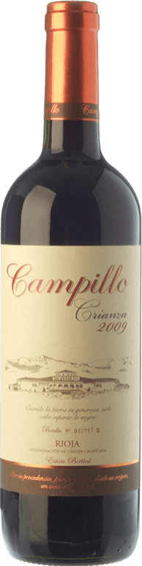9,95 € 免费送货   红酒 Campillo Crianza D.O.Ca. Rioja 拉里奥哈 西班牙 Tempranillo 瓶子 75 cl