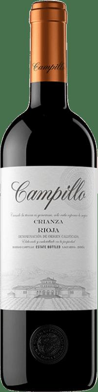 9,95 € Envío gratis | Vino tinto Campillo Crianza D.O.Ca. Rioja La Rioja España Tempranillo Botella 75 cl