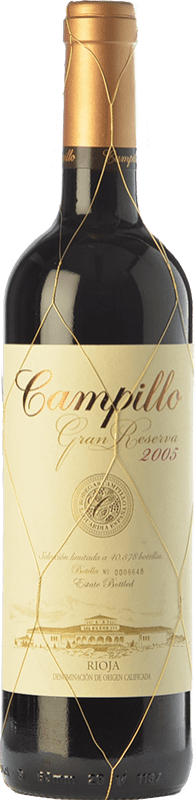 33,95 € | Red wine Campillo Gran Reserva D.O.Ca. Rioja The Rioja Spain Tempranillo, Graciano Bottle 75 cl
