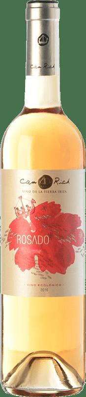 8,95 € | Rosé wine Can Rich I.G.P. Vi de la Terra de Ibiza Balearic Islands Spain Tempranillo, Merlot Bottle 75 cl