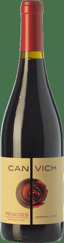 11,95 € Envío gratis | Vino tinto Can Vich Crianza D.O. Penedès Cataluña España Cabernet Sauvignon Botella 75 cl