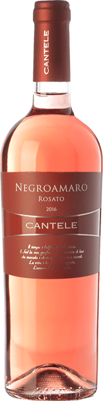 9,95 € | Rosé wine Cantele Rosato I.G.T. Salento Campania Italy Negroamaro Bottle 75 cl