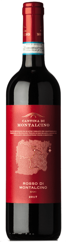 15,95 € | Red wine Cantina di Montalcino D.O.C. Rosso di Montalcino Tuscany Italy Sangiovese Bottle 75 cl