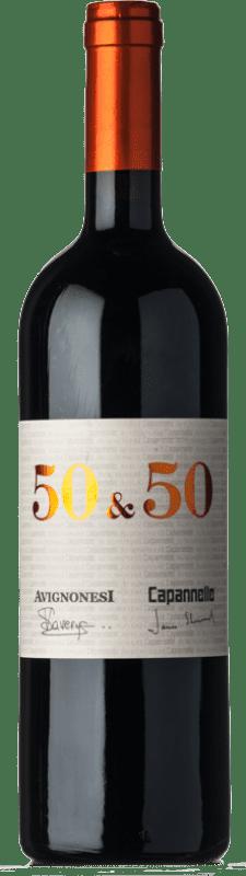 136,95 € | Red wine Capannelle 50&50 I.G.T. Toscana Tuscany Italy Merlot, Sangiovese Bottle 75 cl