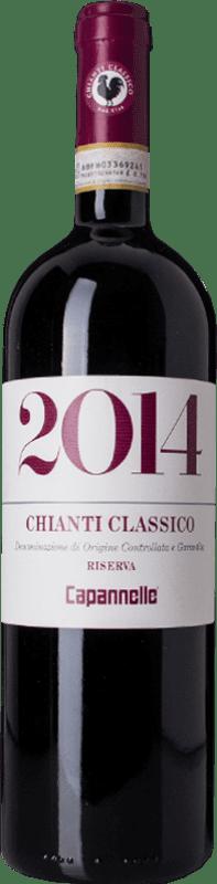 38,95 € | Red wine Capannelle Riserva Reserva D.O.C.G. Chianti Classico Tuscany Italy Sangiovese Bottle 75 cl