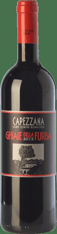 44,95 € Free Shipping | Red wine Capezzana Ghiaie della Furba I.G.T. Toscana Tuscany Italy Merlot, Syrah, Cabernet Sauvignon Bottle 75 cl