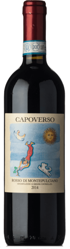 12,95 € Free Shipping | Red wine Capoverso D.O.C. Rosso di Montepulciano Tuscany Italy Sangiovese, Canaiolo Bottle 75 cl