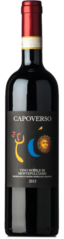 23,95 € | Red wine Capoverso D.O.C.G. Vino Nobile di Montepulciano Tuscany Italy Merlot, Sangiovese Bottle 75 cl