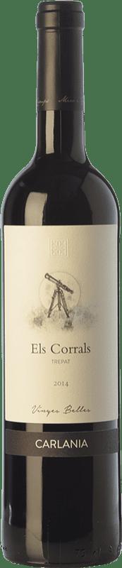 15,95 € Envío gratis | Vino tinto Carlania Els Corrals Joven D.O. Conca de Barberà Cataluña España Trepat Botella 75 cl