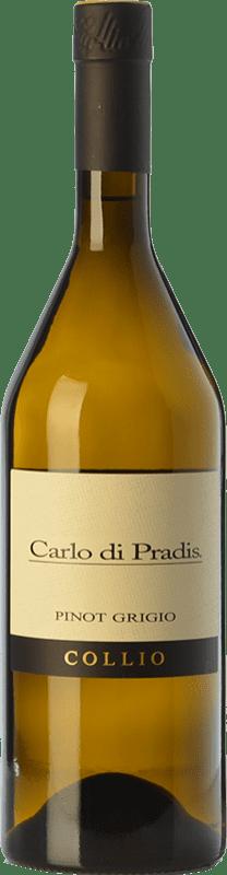 17,95 € Free Shipping | White wine Carlo di Pradis Pinot Grigio D.O.C. Collio Goriziano-Collio Friuli-Venezia Giulia Italy Pinot Grey Bottle 75 cl