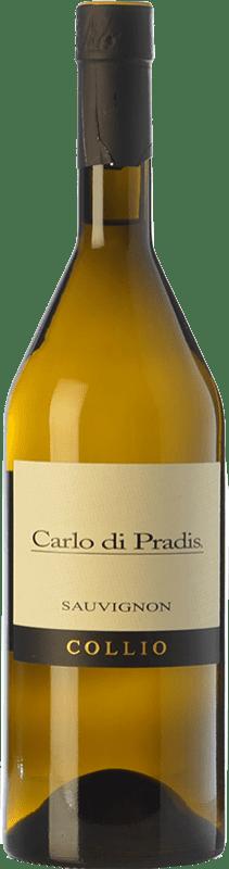17,95 € Free Shipping | White wine Carlo di Pradis D.O.C. Collio Goriziano-Collio Friuli-Venezia Giulia Italy Sauvignon Bottle 75 cl