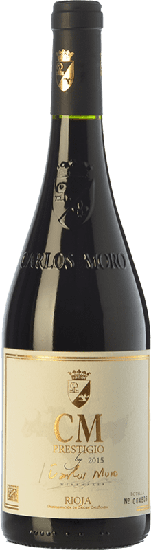 35,95 € Free Shipping | Red wine Carlos Moro Prestigio Crianza D.O.Ca. Rioja The Rioja Spain Tempranillo Bottle 75 cl