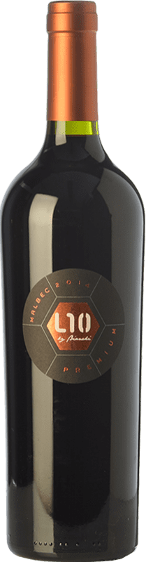 24,95 € 免费送货 | 红酒 Casa Bianchi L10 Premium Crianza I.G. Mendoza 门多萨 阿根廷 Malbec 瓶子 75 cl