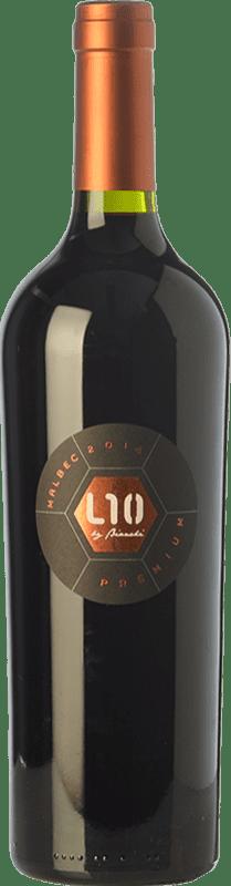 24,95 € Envío gratis | Vino tinto Casa Bianchi L10 Premium Crianza I.G. Mendoza Mendoza Argentina Malbec Botella 75 cl