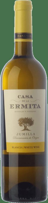 5,95 € Envío gratis | Vino blanco Casa de la Ermita D.O. Jumilla Castilla la Mancha España Viognier Botella 75 cl