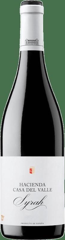 7,95 € Envío gratis | Vino tinto Casa del Valle Hacienda Joven I.G.P. Vino de la Tierra de Castilla Castilla la Mancha España Syrah Botella 75 cl