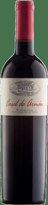 17,95 € Free Shipping | Red wine Casal de Armán Joven D.O. Ribeiro Galicia Spain Sousón, Caíño Black, Brancellao Bottle 75 cl