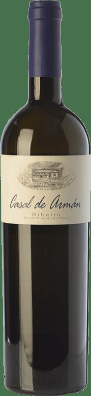 17,95 € Free Shipping | White wine Casal de Armán D.O. Ribeiro Galicia Spain Godello, Treixadura, Albariño Bottle 75 cl