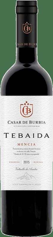 24,95 € 免费送货 | 红酒 Casar de Burbia Tebaida Crianza D.O. Bierzo 卡斯蒂利亚莱昂 西班牙 Mencía 瓶子 75 cl