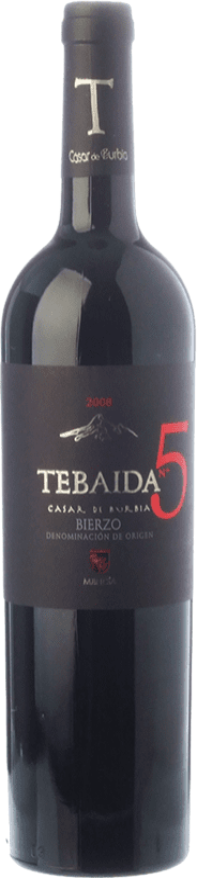 49,95 € 免费送货 | 红酒 Casar de Burbia Tebaida Pago 5 Crianza D.O. Bierzo 卡斯蒂利亚莱昂 西班牙 Mencía 瓶子 75 cl