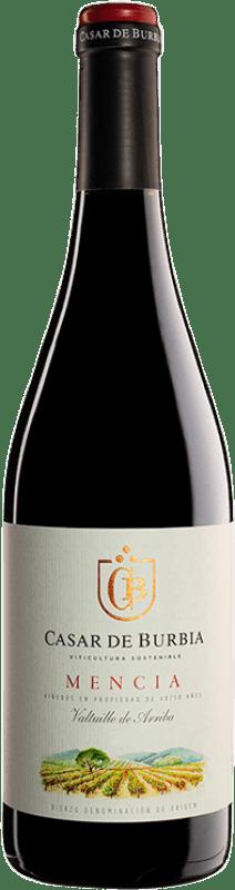 12,95 € | Red wine Casar de Burbia Joven D.O. Bierzo Castilla y León Spain Mencía Bottle 75 cl