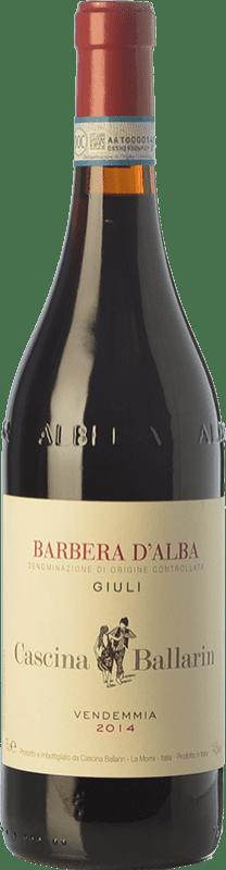 24,95 € Free Shipping | Red wine Cascina Ballarin Giuli D.O.C. Barbera d'Alba Piemonte Italy Barbera Bottle 75 cl