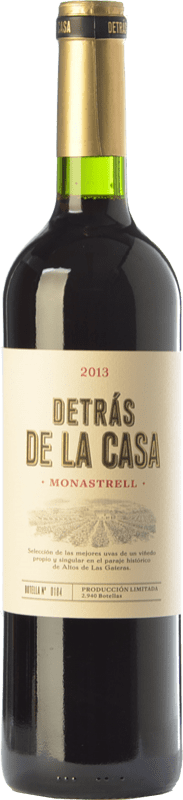 18,95 € | Red wine Castaño Detrás de la Casa Crianza D.O. Yecla Region of Murcia Spain Monastrell Bottle 75 cl