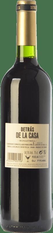12,95 € Free Shipping | Red wine Castaño Detrás de la Casa Crianza D.O. Yecla Region of Murcia Spain Monastrell Bottle 75 cl