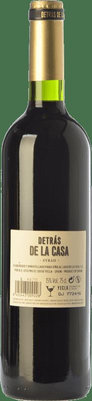 12,95 € Free Shipping | Red wine Castaño Detrás de la Casa Crianza D.O. Yecla Region of Murcia Spain Syrah Bottle 75 cl