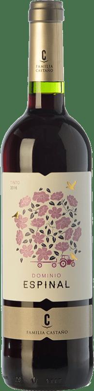 5,95 € Envío gratis | Vino tinto Castaño Dominio de Espinal Joven D.O. Yecla Región de Murcia España Syrah, Monastrell Botella 75 cl
