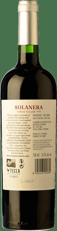 12,95 € Free Shipping   Red wine Castaño Solanera Joven D.O. Yecla Region of Murcia Spain Cabernet Sauvignon, Monastrell, Grenache Tintorera Bottle 75 cl