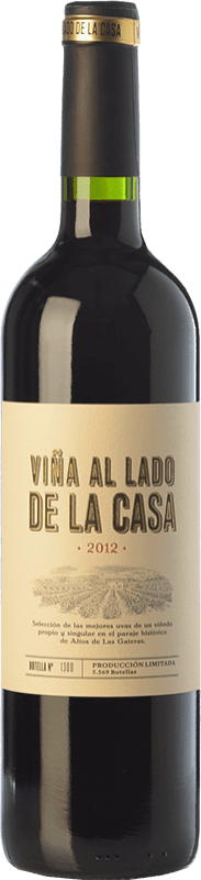 19,95 € Free Shipping | Red wine Castaño Viña al Lado de la Casa Crianza D.O. Yecla Region of Murcia Spain Syrah, Cabernet Sauvignon, Monastrell, Grenache Tintorera Bottle 75 cl